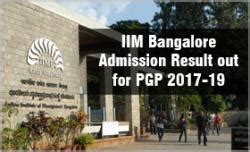 Iim Bangalore Cut 2017 For Mba by Iim Bangalore Admission Result Out For Pgp 2017 19 Only