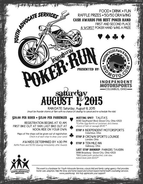 Poker Run Score Sheet Google Search Think Pink Pinterest Poker Scores And Search Free Motorcycle Ride Flyer Template