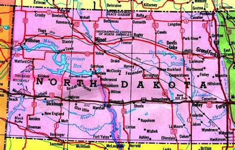 nd map dakota tourist map dakota mappery