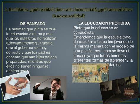 analisis comparativo de imagenes artisticas o documentales an 225 lisis documentales la educaci 243 n prohibida y de panzazo