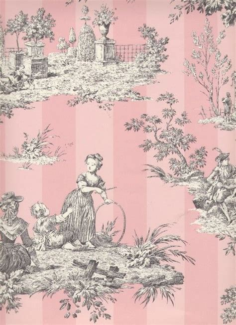 toile wallpaper pinterest pink toile wallpaper pink pink pink pinterest