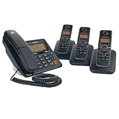 motorola dect 6 0 corded and cordless phone system with 4