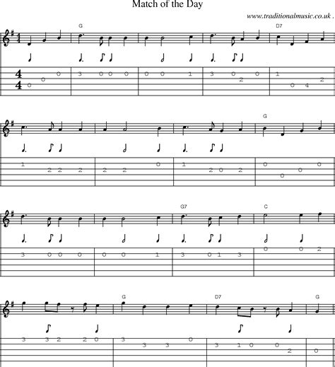 song of the day folk and traditional sheet guitar tab mp3
