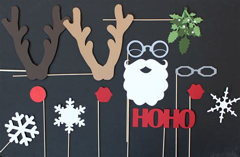 photo booth props christmas photobooth photo props santa and