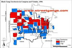 gangs in california map black territories in compton and vicinity 1996