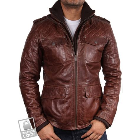 brown leather jacket mens s brown leather bomber jacket warwick