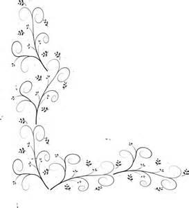 Swirly leaf border clip art at clker com vector clip art online