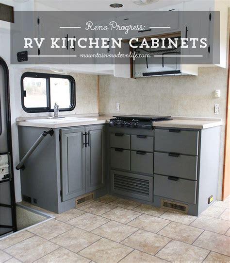 renovation progress rv kitchen cabinets rv remodel