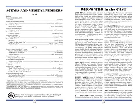 theater program template images templates design ideas