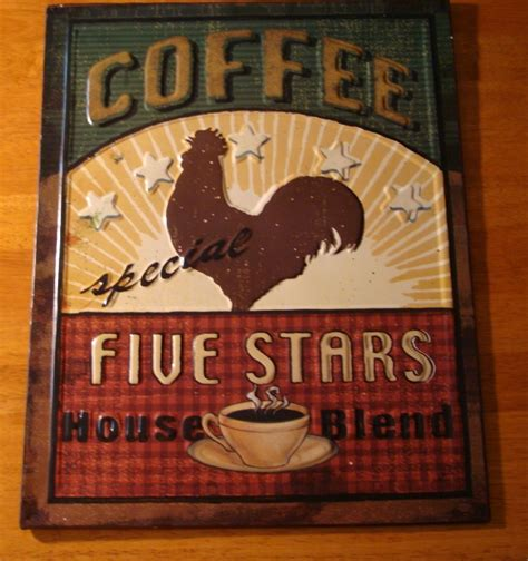 Coffee Signs Kitchen Decor by Rooster Coffee Cafe Shop Country Kitchen Decor