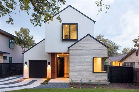 modern home design texas a contemporary house with peaked roofs arrives on this