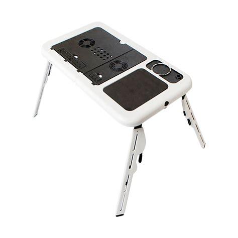 jual mixtyle e table portable with cooling fan meja laptop putih harga kualitas