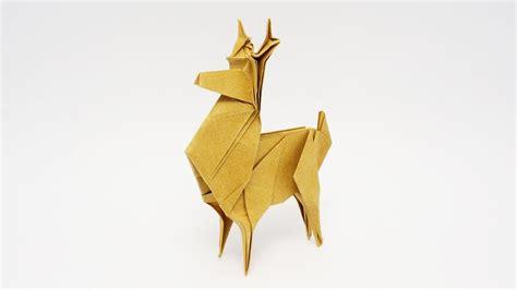 origami deer origami reindeer jo nakashima shaping the legs