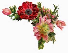 antique images free digital flower images of corner