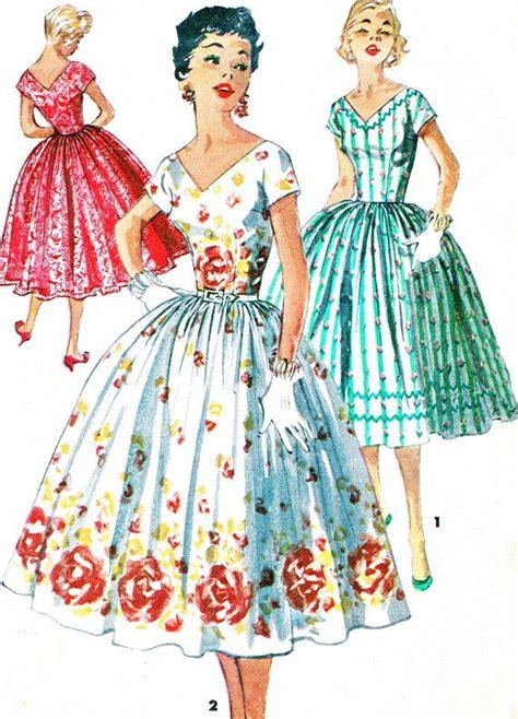 dress pattern v back 1950s dress patterns oasis amor fashion