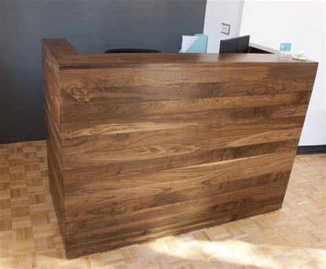 solid walnut reception desk bay area custom furniture