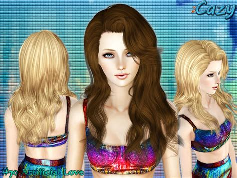 sims 3 free hair my sims 3 blog cazy artificial love hair for females