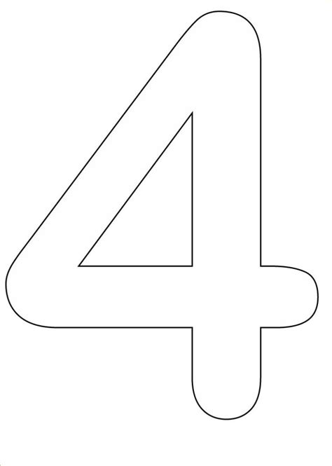 Number 4 Coloring Page Printable by 7 Best Images Of Number 4 Coloring Pages Printable