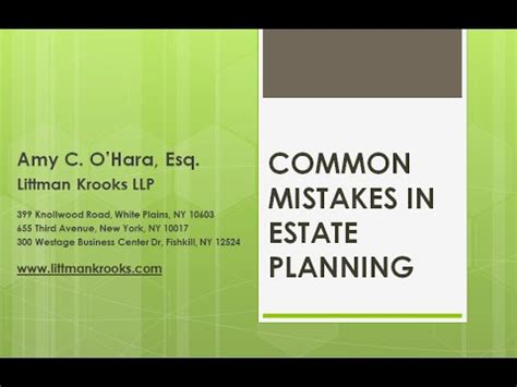 10 Most Common Estate Planning Mistakes And How To Avoid Them common mistakes in estate planning