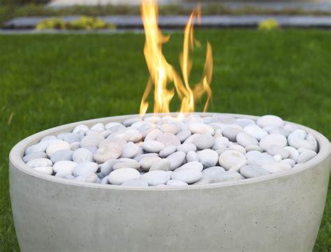 modern firepit topping stones fires modern