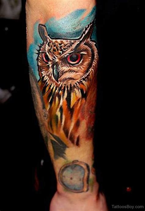 owl forearm tattoo owl tattoos designs pictures page 27