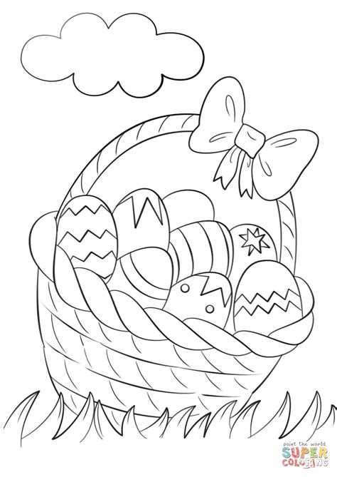 basket of eggs coloring page click the basket of easter eggs coloring pages easter
