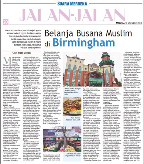 Buku Jelajah Inggris kawasan muslim di birmingham rosimeilani