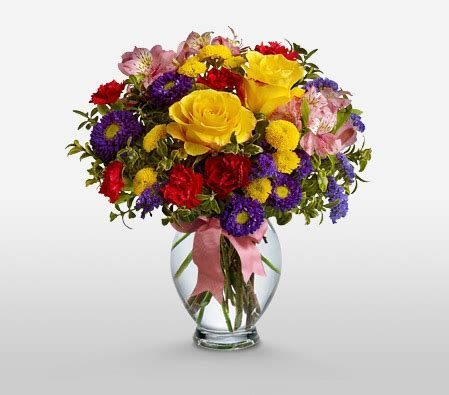 Felicity   Mixed Flower Arrangement With Free Vase   Send