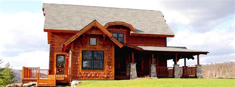 comfy cabin kits from new hshire log homes
