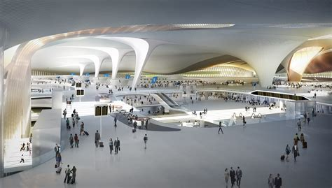 layout of airport building zaha hadid has ambitious plans for beijing thedesignair