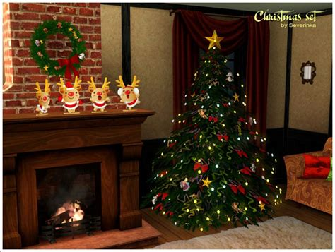 my sims 3 blog christmas decor set by severinka