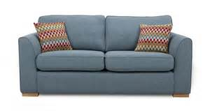 dfs revive sky fabric 3 seater sofa 171643 ebay