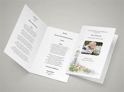 Funeral Order Of Service Templates And Printing Next Day Delivery Funeral Order Of Service Template Free