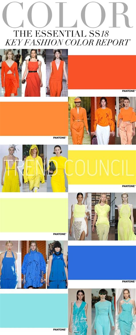 color forecast trends trend council key fashion colors ss 2018