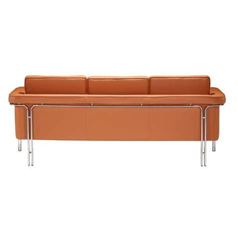leatherette sofa zuo singular modern leatherette sofa in terracota 900168