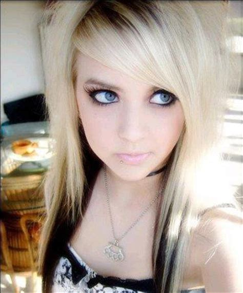 blonde emo haircuts emo girl hairstyle the hairs