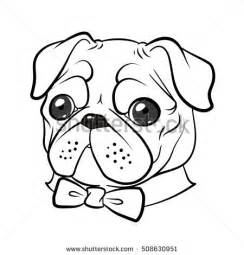 Pug Outline by Pug Vector Stock Vector 186007202
