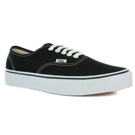 Black Shoes by Vans Authentic Black Unisex Trainers Shoes