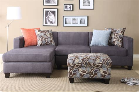 grey sofa wall color grey sofa with cushions also floral bench table on cream