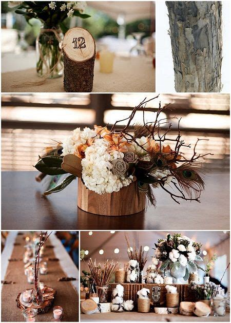 centerpieces made from nature idea to woodburn or st the table numbers into a of branch is more
