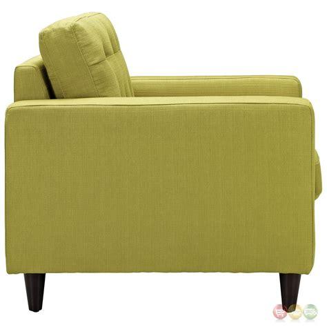 sofa armchair set mid century modern empress 3pc leather sofa armchair set