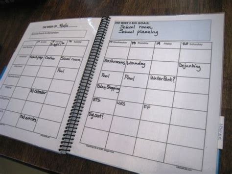 make my own calendar book personal planners planners and household notebook on