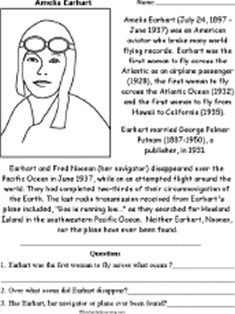 benjamin franklin biography kid friendly amelia earhart biography questions worksheet