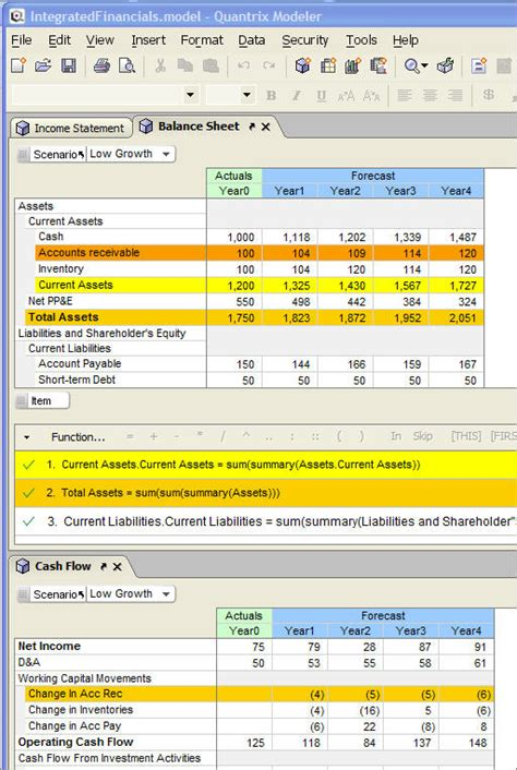 financial statement model template quantrix sle models for data management quantrix
