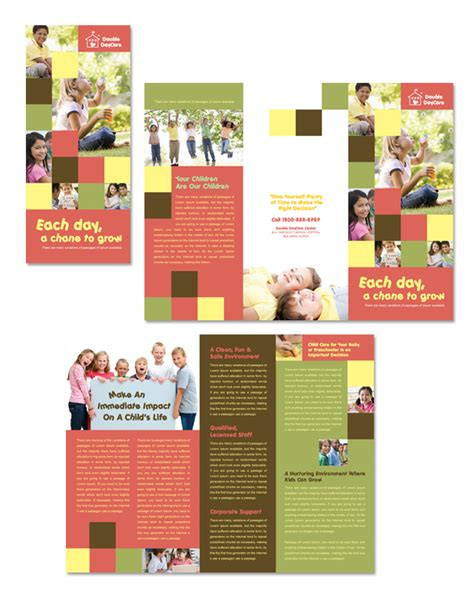 school brochures templates child development school tri fold brochure template
