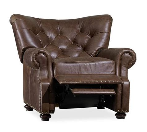 pottery barn lansing leather recliner best 25 pottery barn recliner ideas on pinterest living