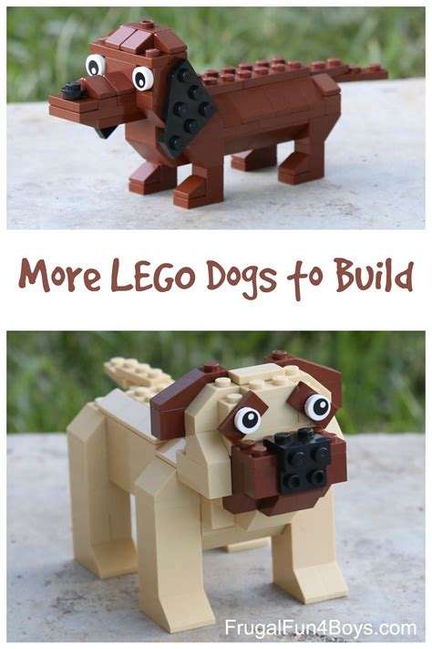 lego dogs more lego dogs dachshund and mastiff building frugal for boys and