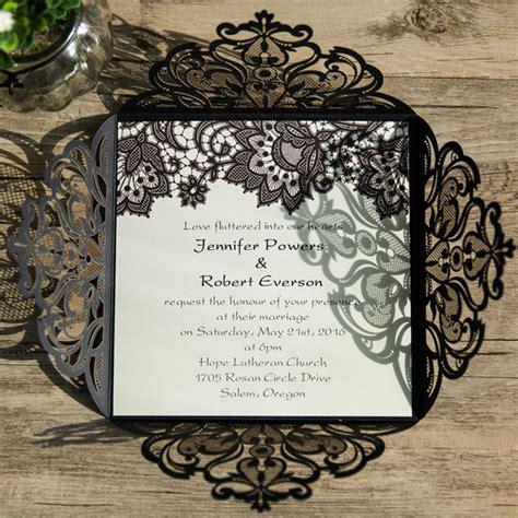 wedding invitation lace design black lace pattern laser cut wedding invitations ewws062 as low as 2 09