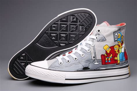 Converse All High Grey print converse all chuck grey high tops canvas sneakers s602022