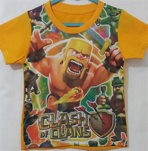 Kaos Coc Series Kg Coc 11 by Kaos Clash Of Clans Yellow 1 6 Grosir Eceran Baju Anak